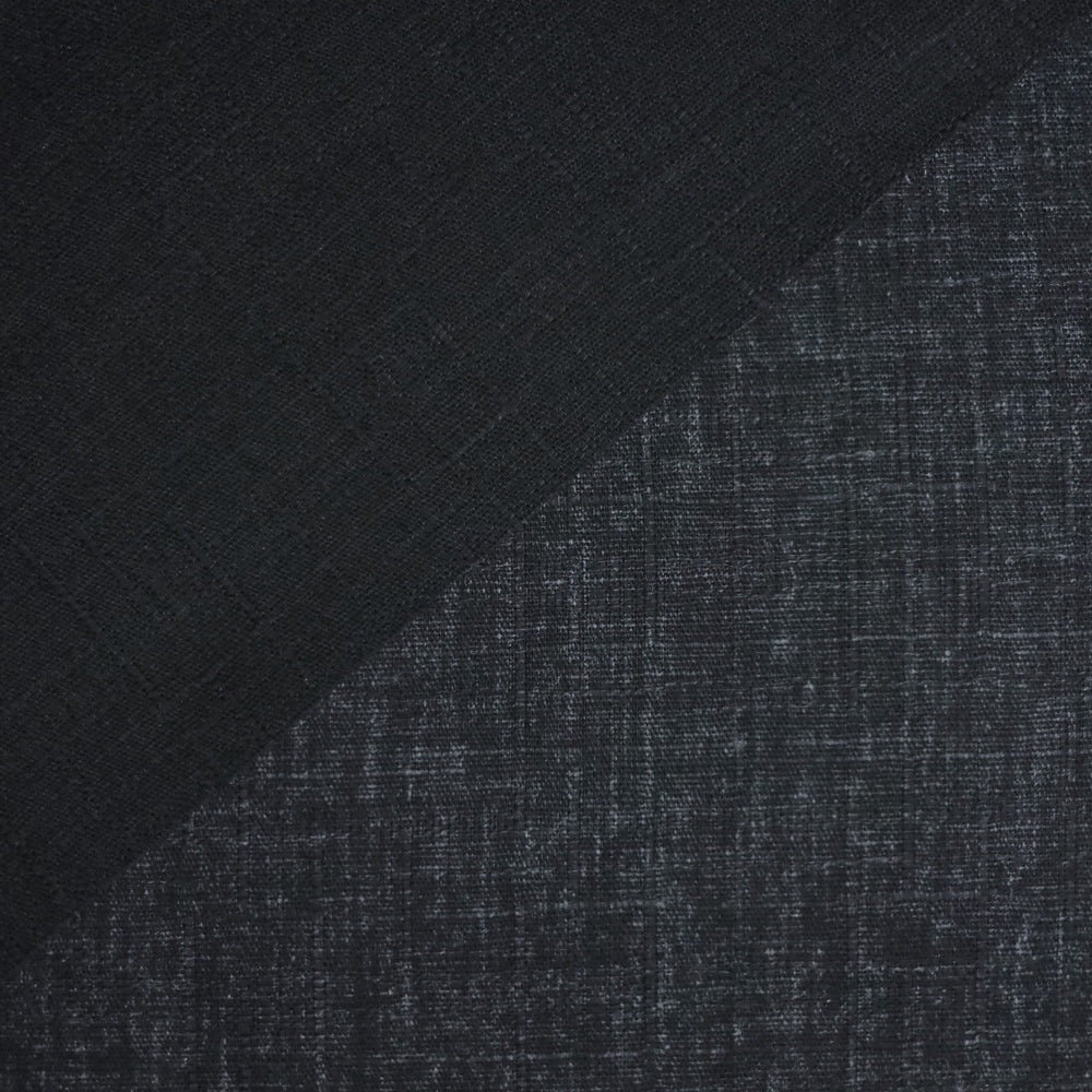 Japanese Dobby Cloth - Very Dark Navy Reversible Solid