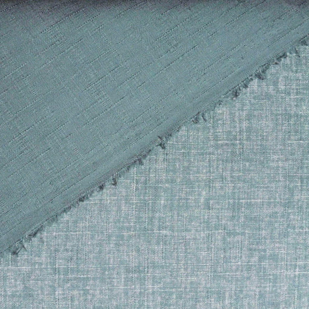 Japanese Dobby Cloth - Grey Blue Reversible Solid