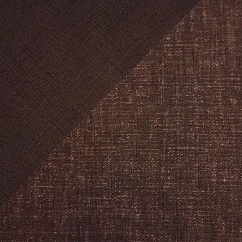Japanese Dobby Cloth - Raisin Brown Reversible Solid