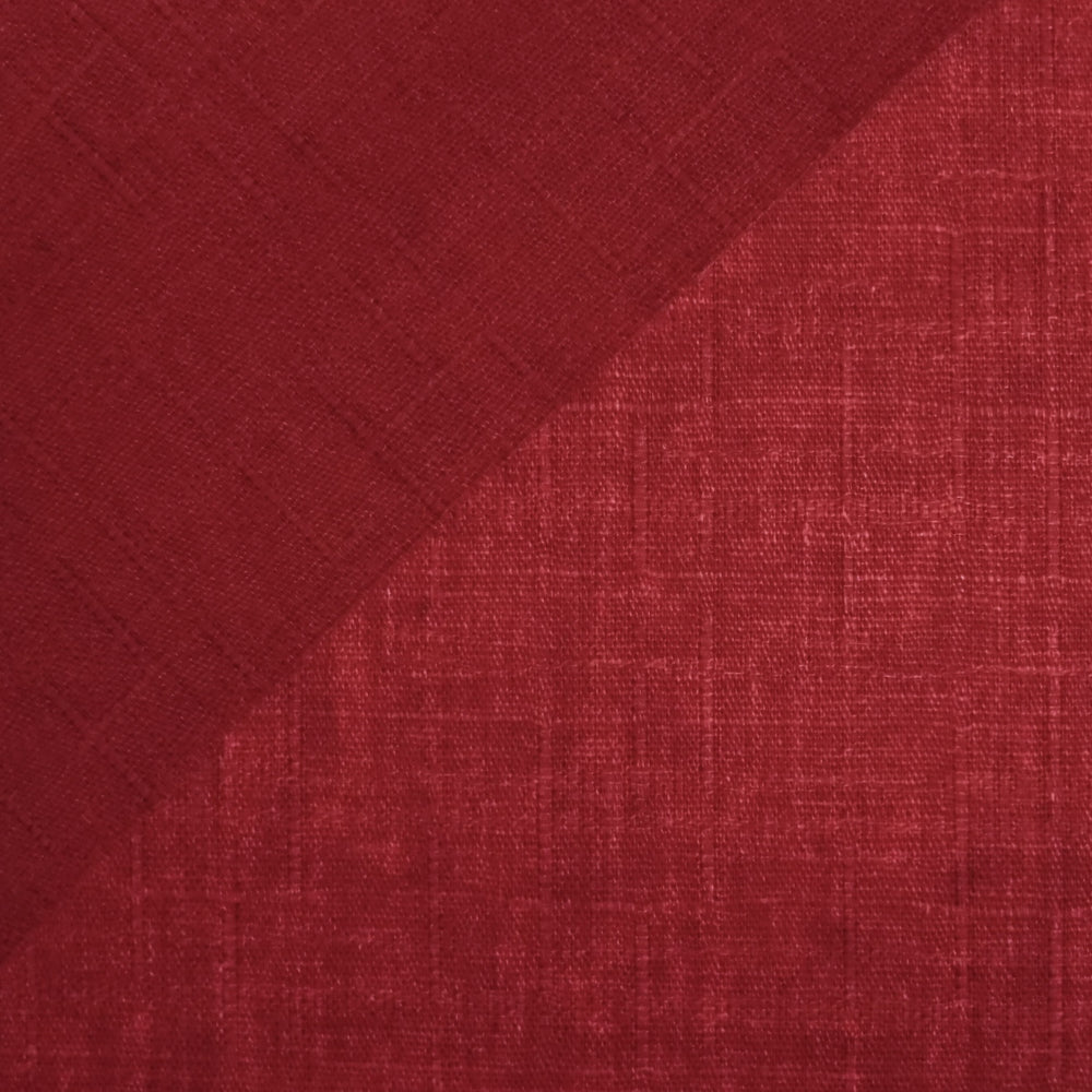 Japanese Dobby Cloth - Crimson Red Reversible Solid