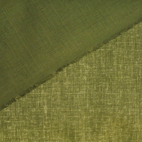 Japanese Dobby Cloth - Army Green Reversible Solid
