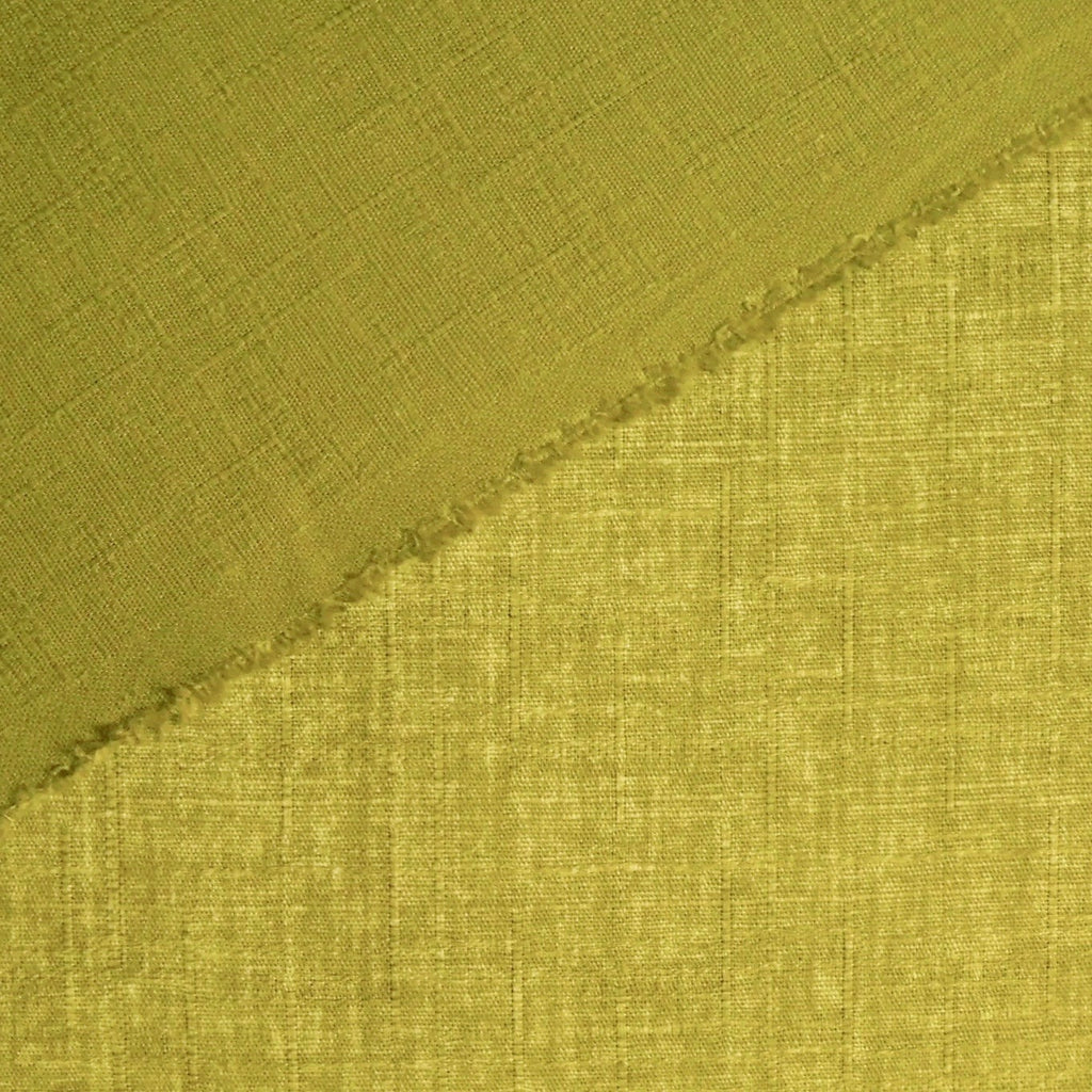 Japanese Dobby Cloth - Moss Green Reversible Solid