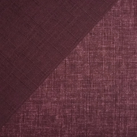 Japanese Dobby Cloth - Plum Reversible Solid