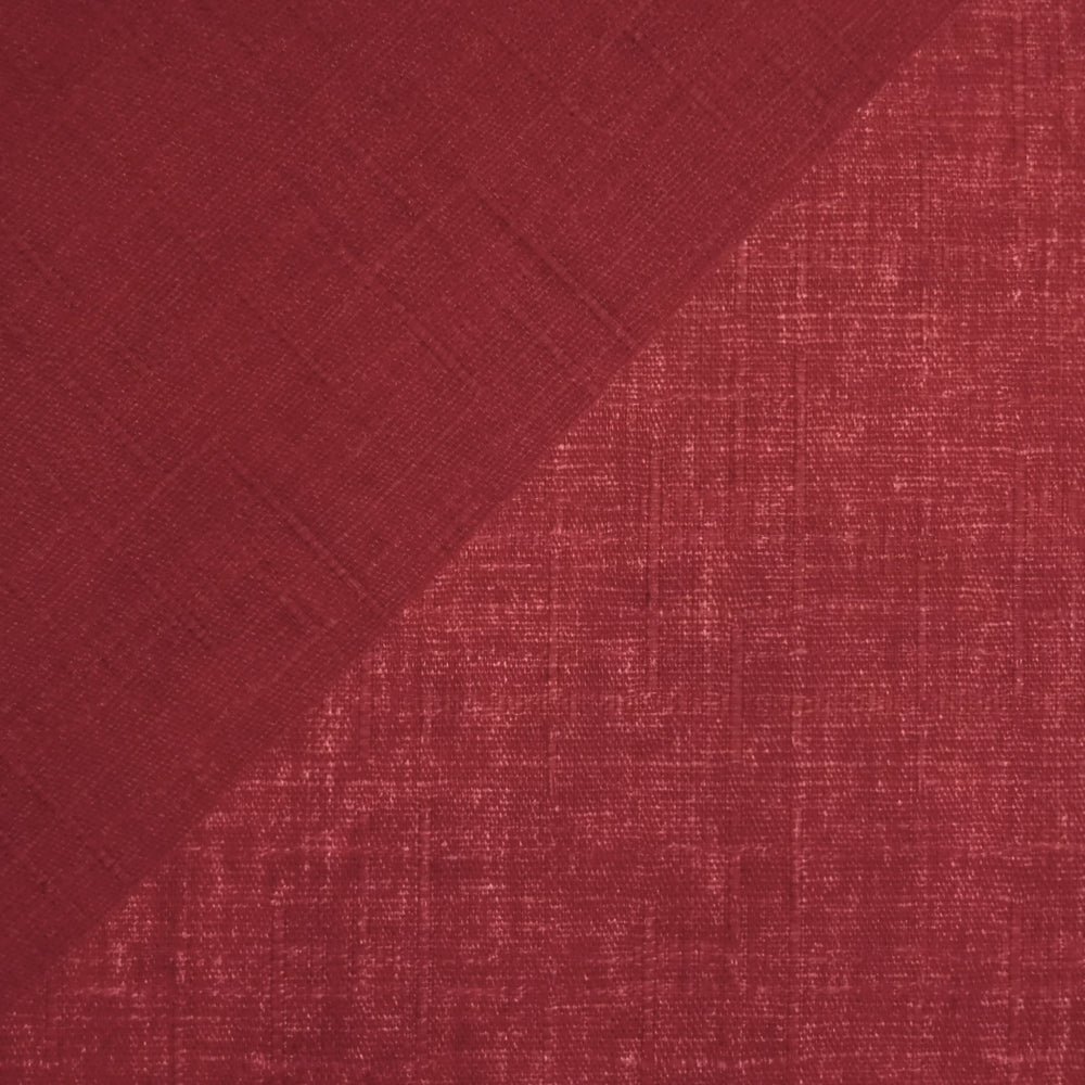 Japanese Dobby Cloth - Raspberry Red Reversible Solid