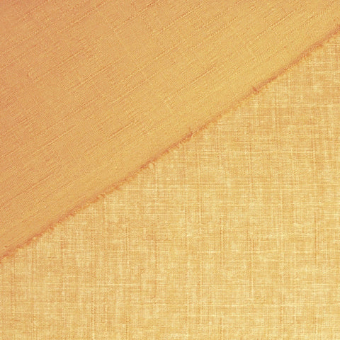 Japanese Dobby Cloth - Peachy Gold Reversible Solid