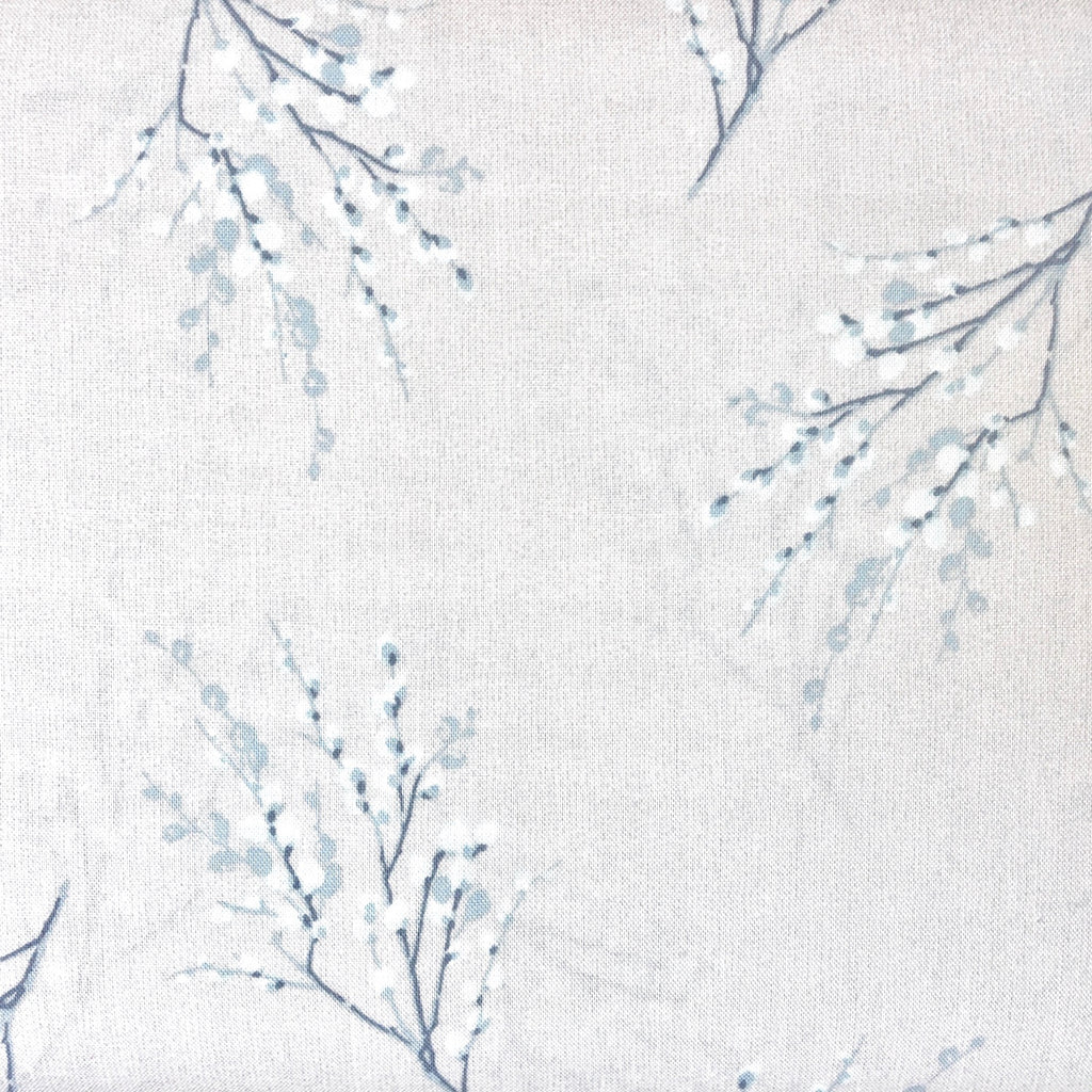 Japanese Quilting Print - Cream with Blue Sprig