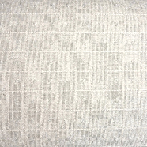 Japanese Yarn Dye - Cream Embroidered Woven Square