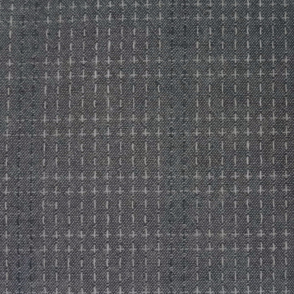 Japanese Yarn Dye - Dark Grey Delicate Stitched Stripe