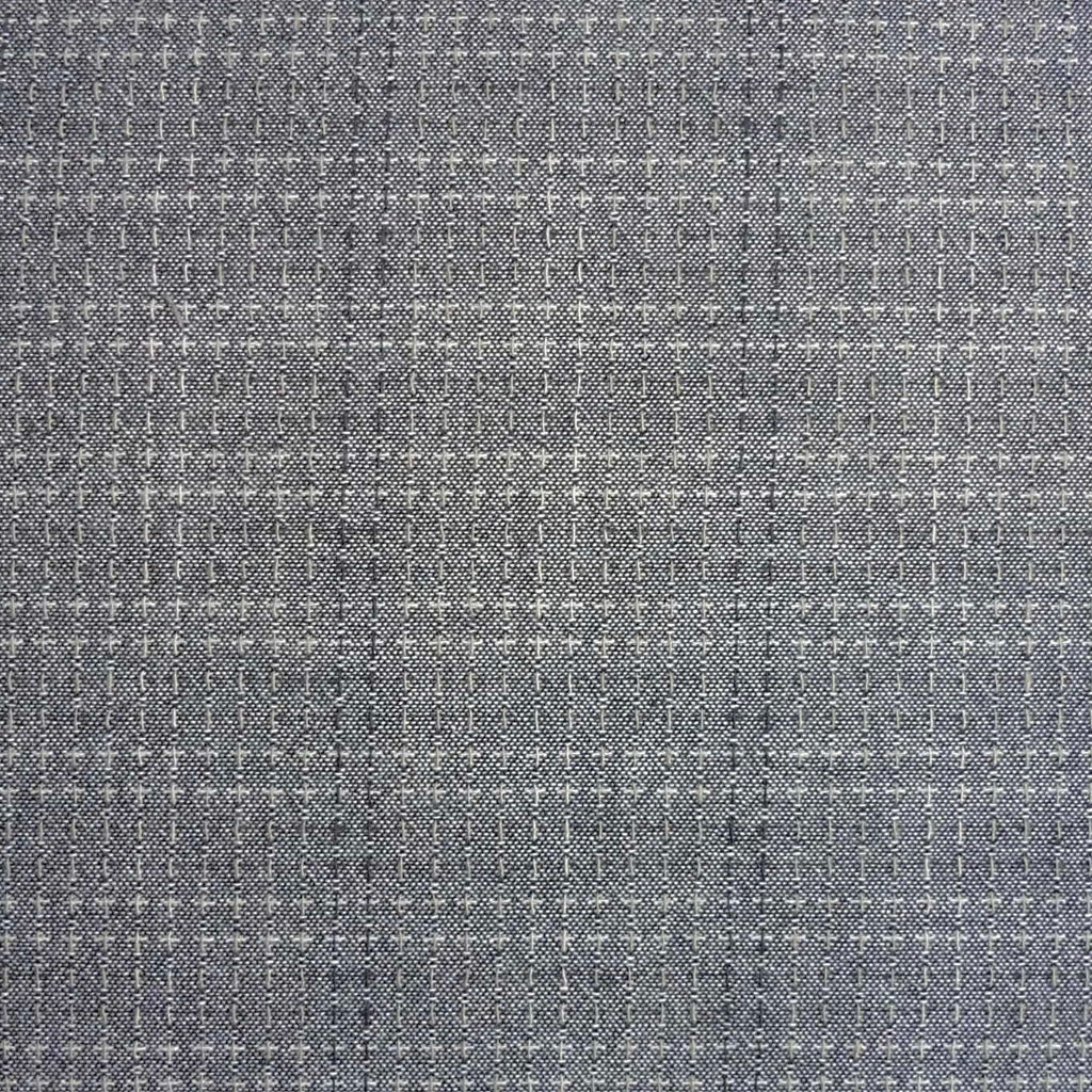 Japanese Yarn Dye - Grey Delicate Stitched Stripe