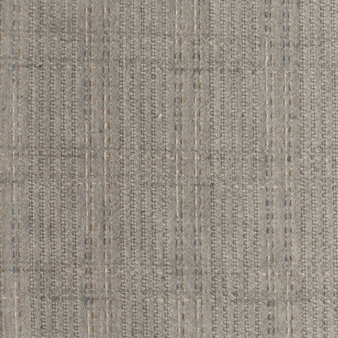 Japanese Yarn Dye - Taupe Stitched Grid