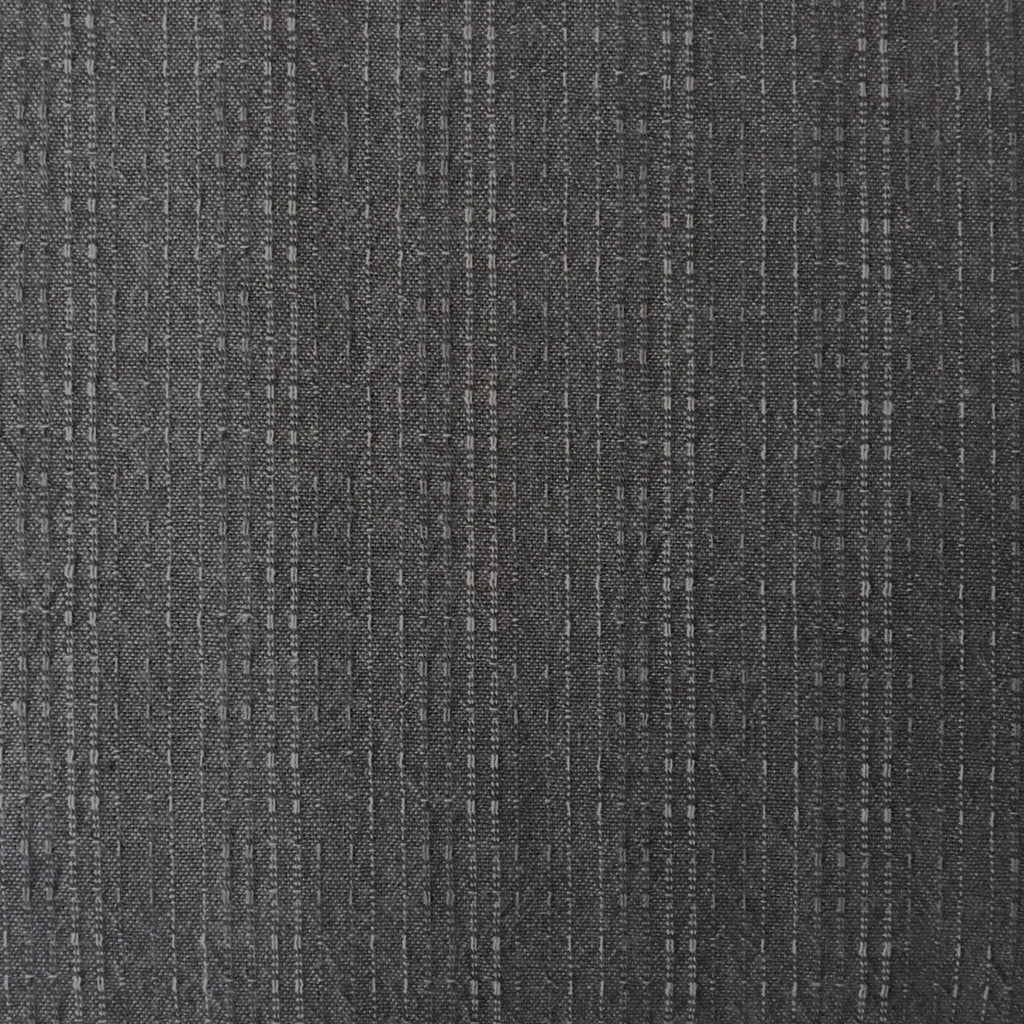 Japanese Yarn Dye - Dark Grey Dotted Stripe