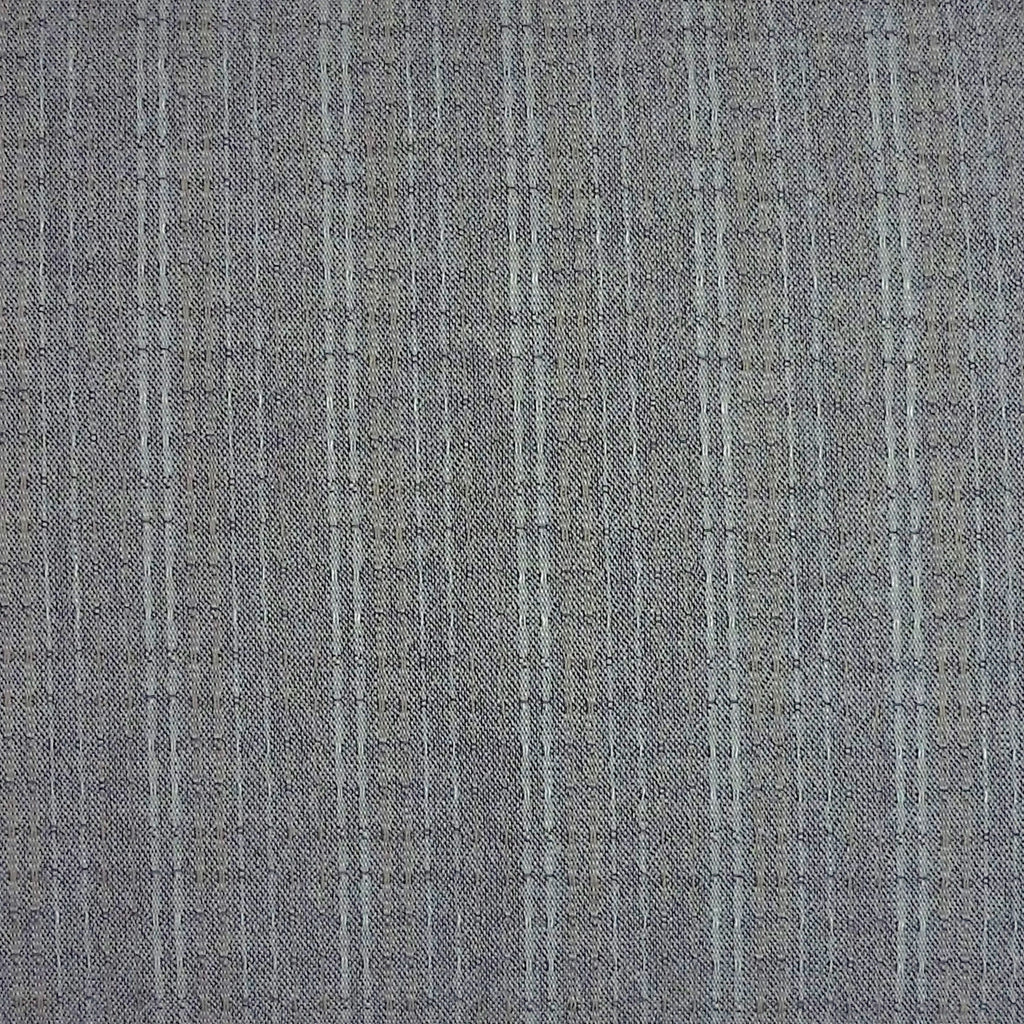 Japanese Yarn Dye - Medium Grey Dotted Stripe