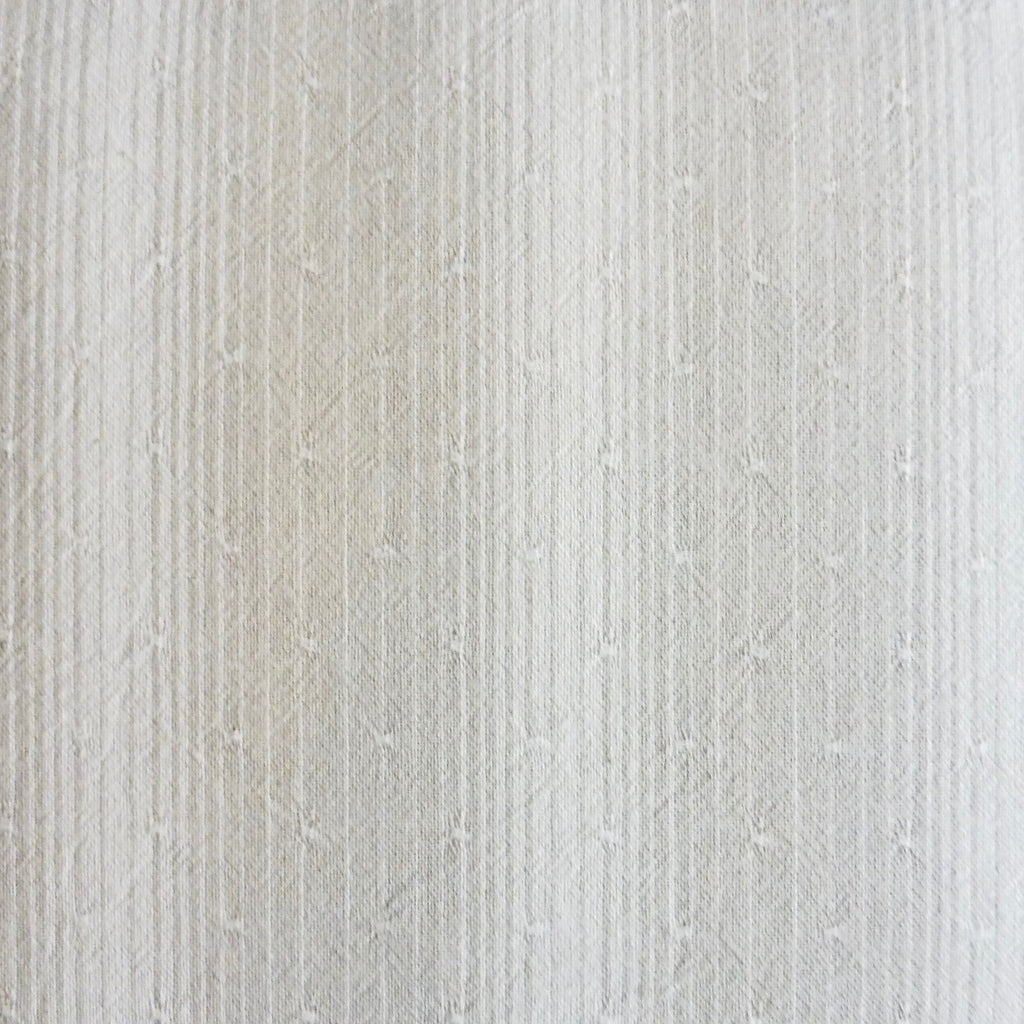 Japanese Yarn Dye - Cream and Beige Dotty Stripe