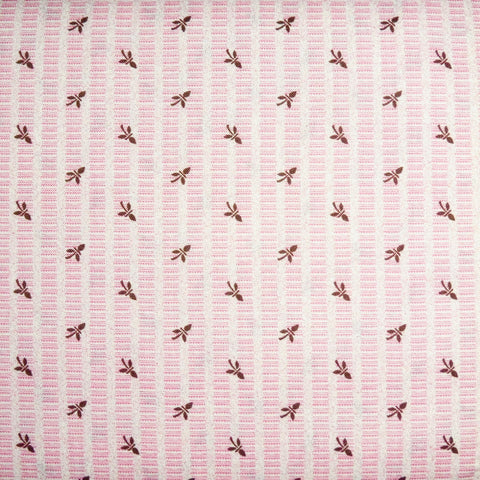 Japanese Quilting Print - Pink Bud on Stripe