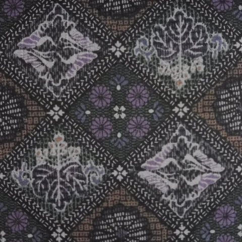 Japanese Dobby Cloth - Black Tapestry Sampler