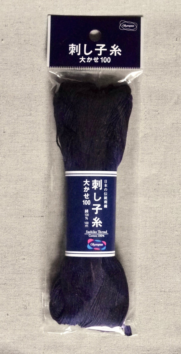 Sashiko Thread - 100 m. of Thick Indigo Blue