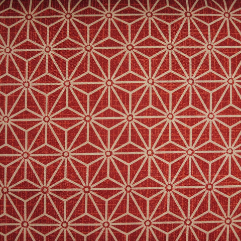Japanese Quilting Print - Barn Red Hemp Leaf