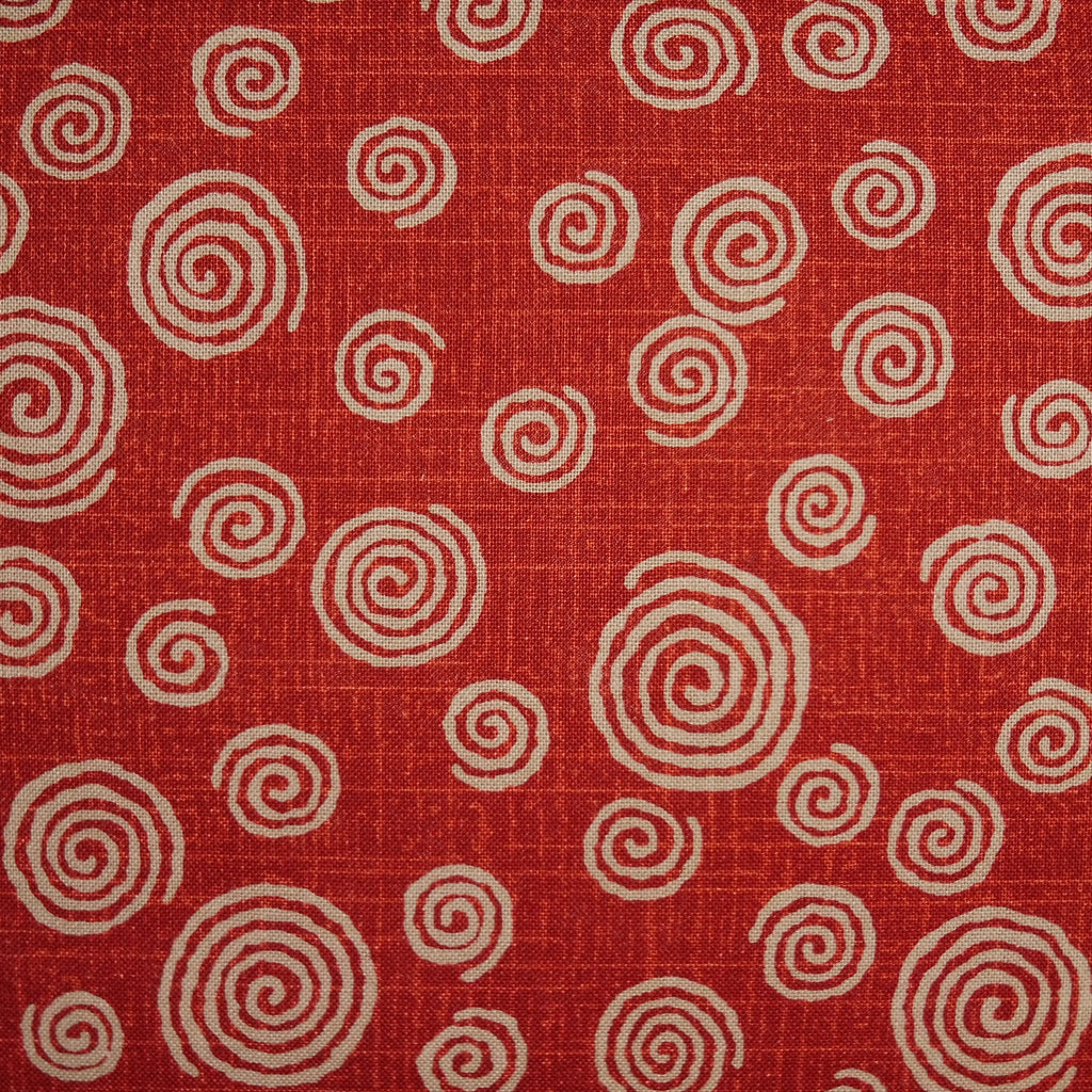 Japanese Quilting Print - Barn Red Swirl