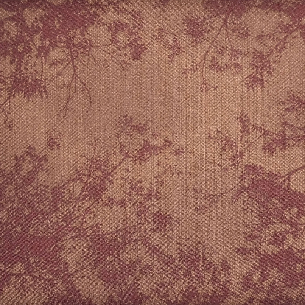 Japanese Quilting Print - Rust Treetop