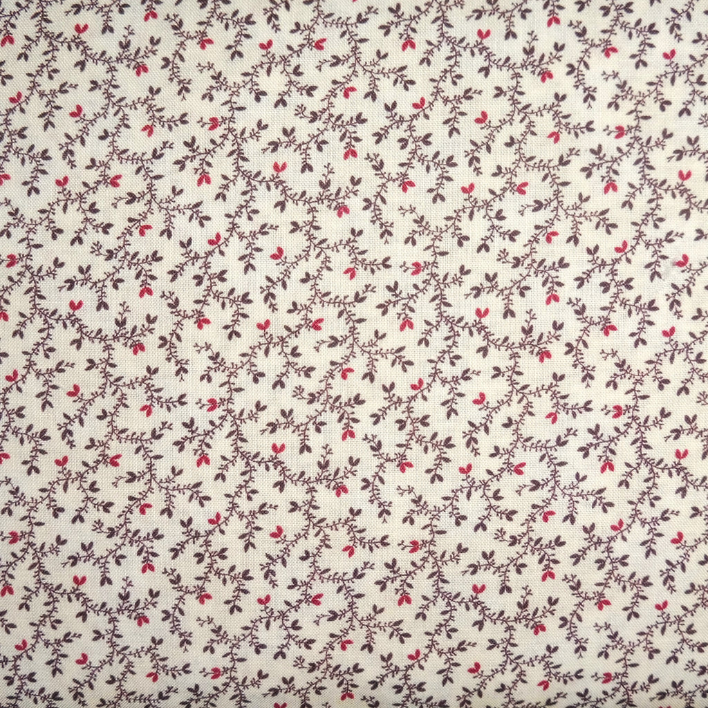 Japanese Quilting Print - Brown Vine