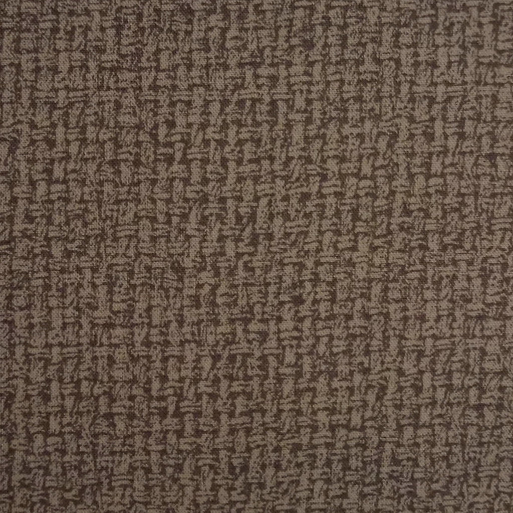 Japanese Quilting Print - Cool Dark Brown Basket Weave