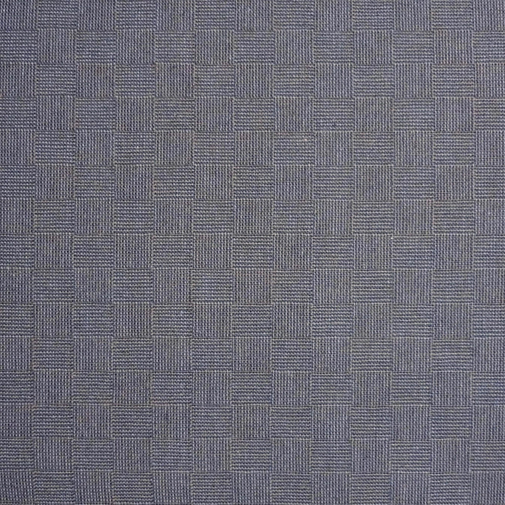 Japanese Yarn Dye - Delicate Bluish Grey Basket Weave
