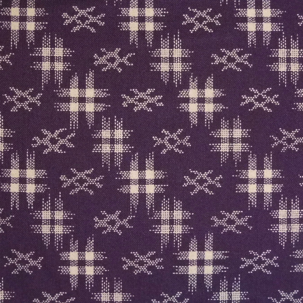 Japanese Quilting Print - Purple Well Curb