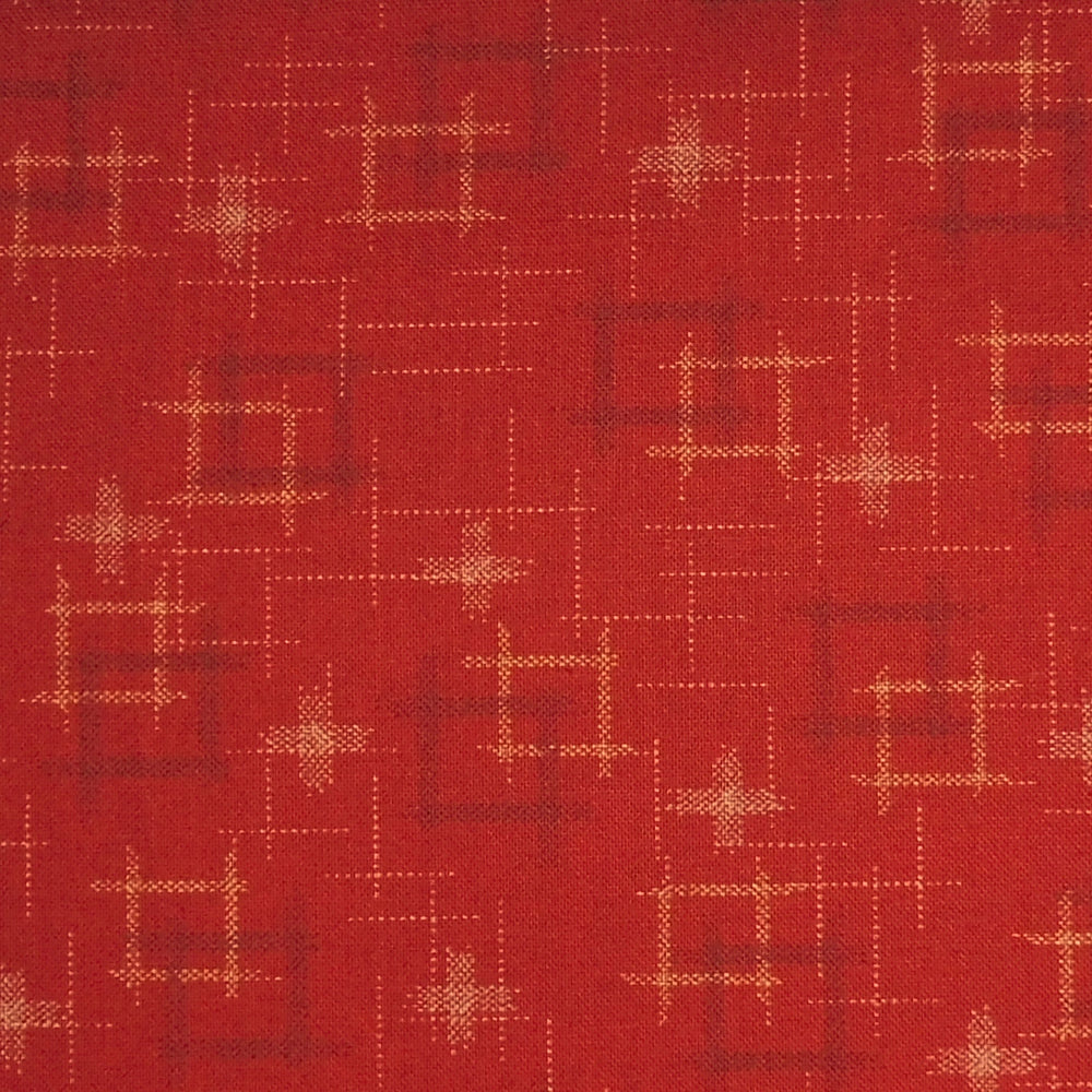 Japanese Quilting Print - Red Well Curb