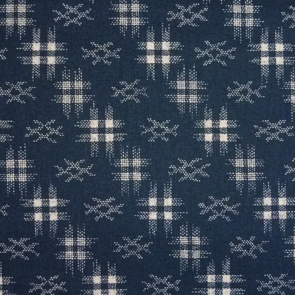 Japanese Quilting Print - Dark Blue Well Curb