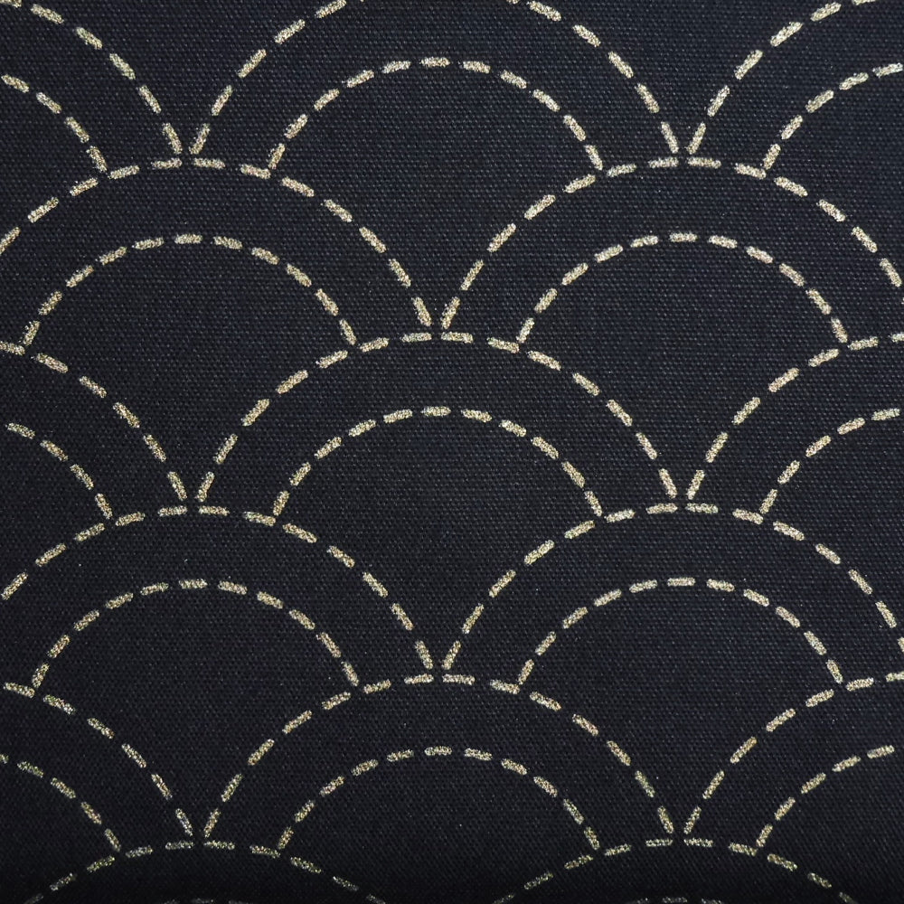 Sashiko Fabric - Dark Blue Waves