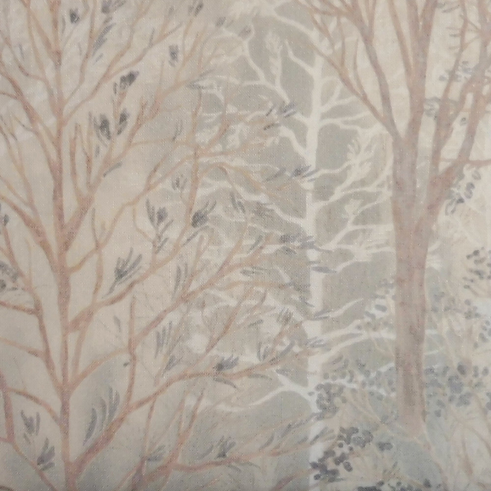 Japanese Quilting Print - Beige Trees