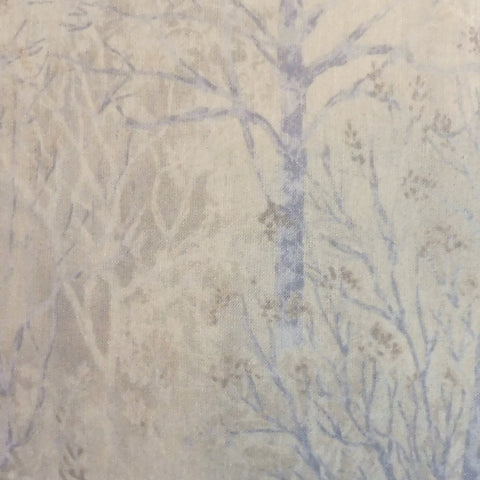 Japanese Quilting Print - Periwinkle Trees