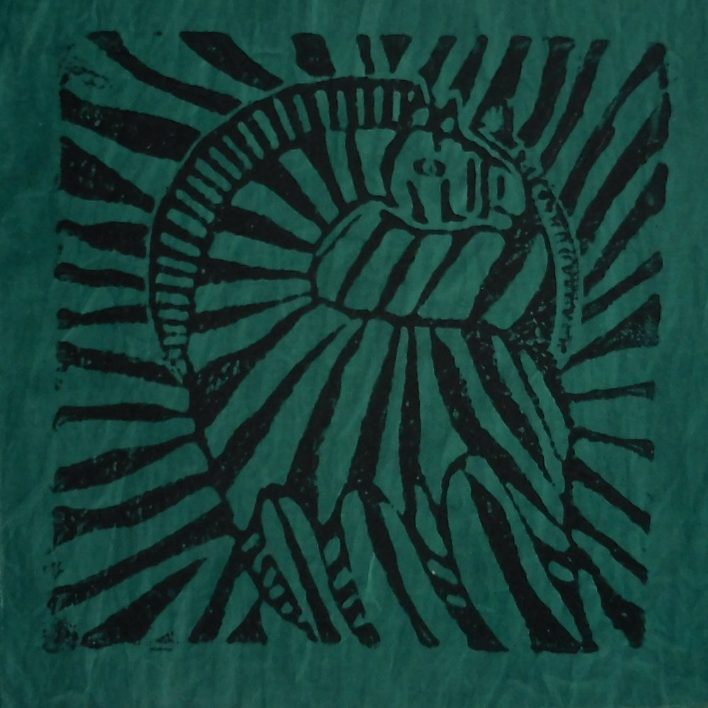 South African Panel - Zebra in Dark Green