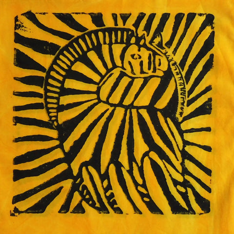 South African Panel - Zebra in Bright Yellow