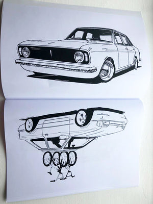 RR Colouring Book - Ford Edition SOLD OUT MORE STOCK SOON