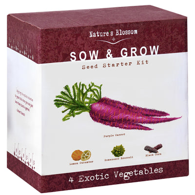 Exotic Vegetables Starter Kit - 4 Unique Vegetable to Grow From Seed