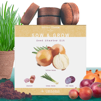 Onion Growing Kit - 4 Types of Onions to Grow from Seed