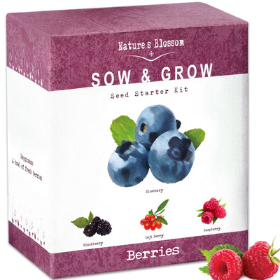 Exotic Fruits Growing Kit - 4 Types of Berries to Grow From Seed