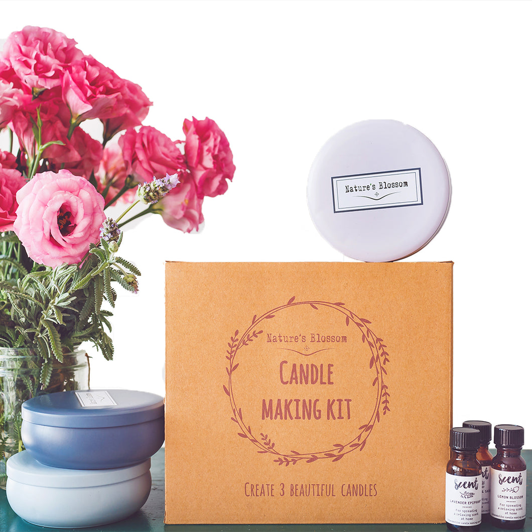 Candle Making Kit - Make 3 Scented Soy Candle