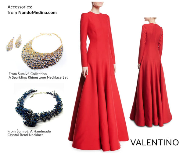 Valentino, a classic and elegant style with NM's accessories.