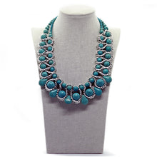 Seducción: Turquoise Standout Bead Necklace Set. Fashion Jewelry by Nando Medina