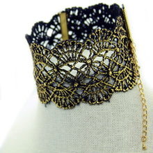 Seducción: Gold Baroque Lace Choker. Fashion Jewelry by Nando Medina