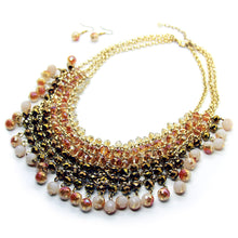Hand-made faceted glass bead necklace, by Nando Medina