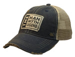 """The Man The Myth The Legend"" Distressed Trucker Cap"