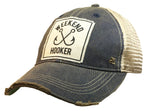 """Weekend Hooker"" Distressed Trucker Cap"