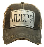 """Jeep Girl"" Distressed Trucker Cap"