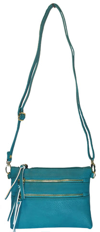 Crossbody Messenger Bag Blue (Teal)