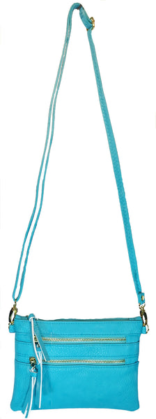 Crossbody Messenger Bag Light Blue (turquoise)