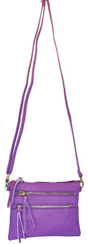 Crossbody Messenger Bag Light Purple
