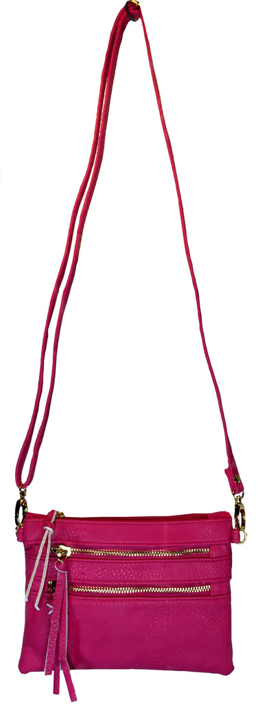 Crossbody Messenger Bag Rose ( Fuchia Hot Pink)